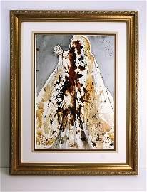 Salvador Dali Original 1967 Lazarus Framed Lithograph