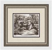 Raphael 1649 Engraving Vatican God Appears in the