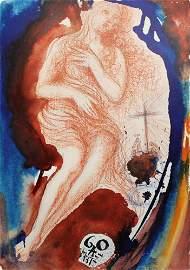Salvaldor Dali Original Mary Magdalene 1967 Framed