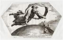 Raphael 1649 Engraving Vatican God Creates Earth