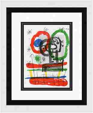 1965 JOAN MIRO Original Color Lithograph Boat and