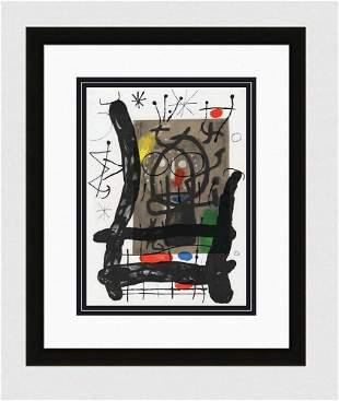 "1965 JOAN MIRO Original Color Lithograph M447 ""Hoot"