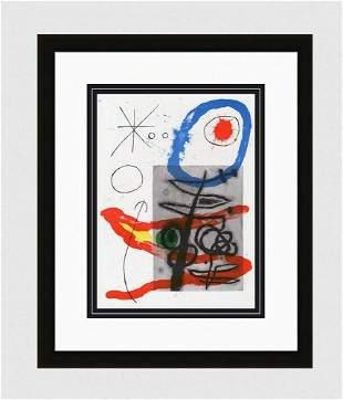 "Original MIRO 1965 Lithograph M443 ""Abstract"