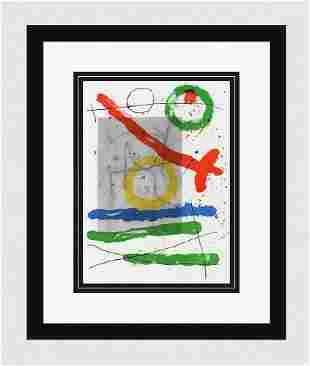 1965 JOAN MIRO ORIGINAL M442 Lithograph Circles & Lines