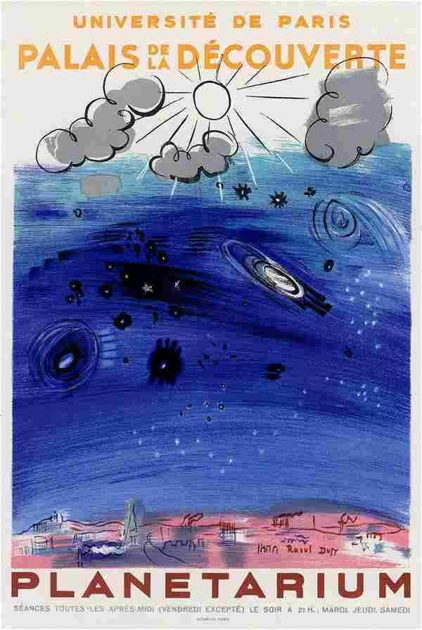Raoul 1959 lithograph Planetarium signed