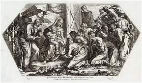 Raphael 1649 Engraving Vatican The adoration