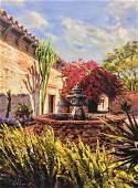 Garcia Villasante Mediterranean Fountian Oil Painting