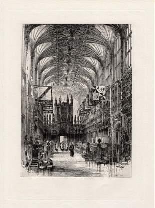 Herbert Railton 1885 etching Interior of St. George's