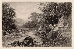 Alexander Ansted On the East Lynn 1893 etching