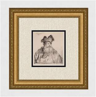 1800s REMBRANDT B265 Old man with a High Hat DURAND