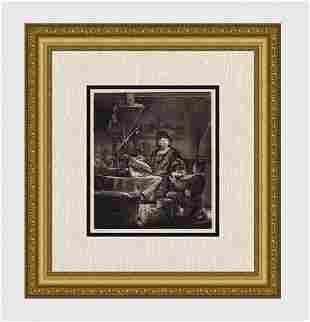 1800s REMBRANDT B281 Jan Uytenbogaert, The Goldweigher