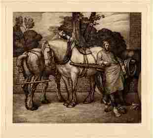 George Frederic Watts Mid-Day Rest Etching