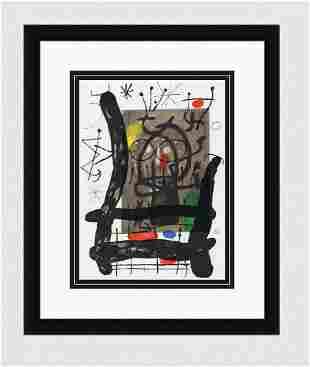 1965 JOAN MIRO Original Color Lithograph Framed