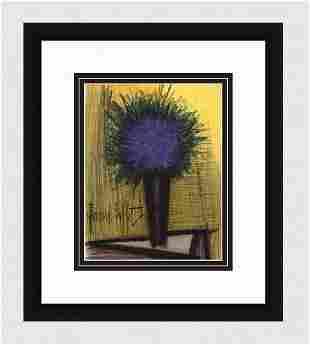 Bernard Buffet 1967 lithograph The Purple Bouquet of