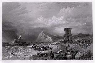 Clarkson Frederick Stanfield Wreck of Dover engraving