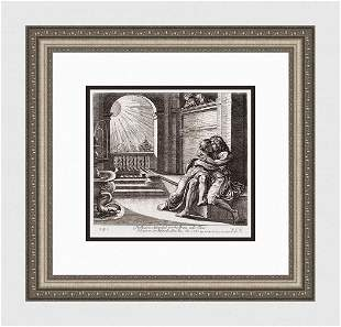 Raphael 1649 Engraving Vatican Isaac and Abimelech