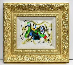 """CONSTANTINE Original Abstract Painting """" Playful Puppy"""""""