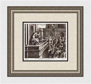 Raphael 1649 Engraving Vatican David and Bathsheba