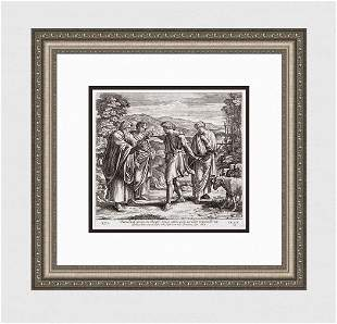 Raphael 1649 Engraving Vatican Jacob agrees to work