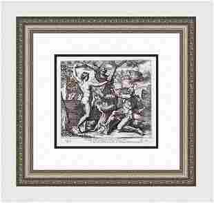 Raphael 1649 Engraving Vatican The Serpent Deceives