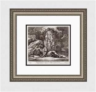 Raphael 1649 Engraving Vatican Jacob's Dream