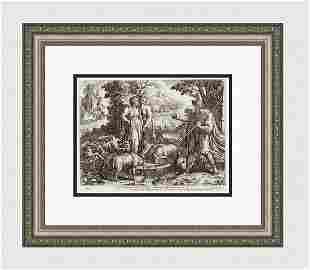 Raphael 1649 Engraving Vatican Jacob Sees Rachel