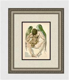 1960 Salvador Dali Fallen Angel Original Woodcut