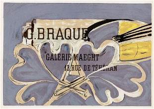 """Georges BRAQUESigned ANTIQUE Exhibition Poster """"The"""