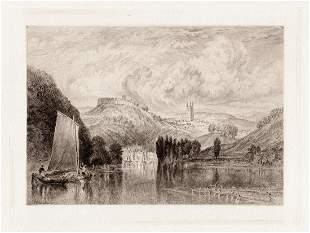 Joseph Mallord William Turner 1885 etching Totnes