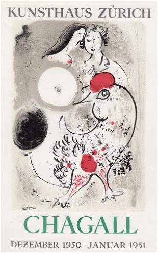 Marc Chagall Chagall 1959 Lithograph Signed