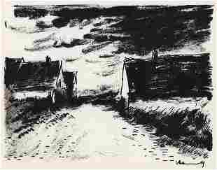 Maurice de Vlaminck Maisons dans la Beauce lithograph