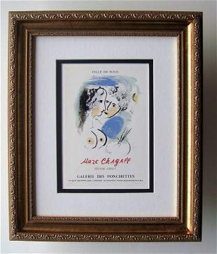 1959 Marc Chagall Oeuvre Grave lithograph signed