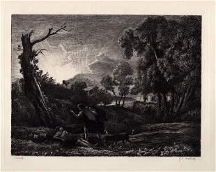Claude Lorrain Cephalus and Procris 1876 etching