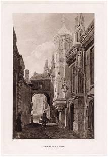 John Sell Cotman Covered Portal to a Church 1893 print