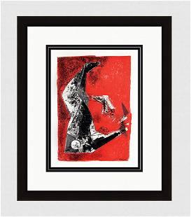 "Gallery Framed MARINO MARINI 1959 Lithograph ""The"