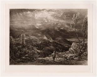 Samuel Palmer Christian descending into the Valley of