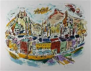 1980 Wayne Ensrud Royal Chateau lithograph signed