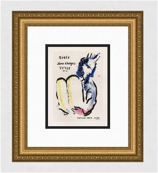 Marc Chagall 1959 color lithograph Bible