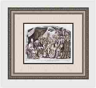 Raphael 1649 Engraving Vatican Joshua divides the land