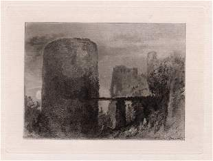 Joseph Mallord William Turner Ruined Castle etching