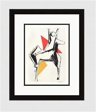 "LIMITED Marino MARINI 1959 Lithograph ""Cavalier Fond"