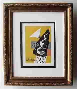 Georges Braque 1959 lithograph Braque Graveur signed
