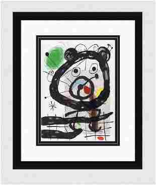 1965 MIRO Original Color Lithograph Gallery Framed