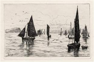 George Stratton Ferrier A Calm Day 1879 etching