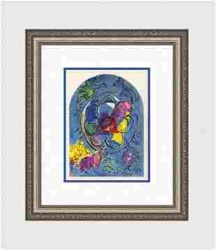 1962 Marc Chagall Color Lithograph Jerusalem Windows