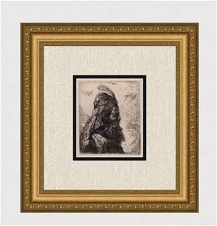 1800s REMBRANDT B288 Third Oriental Head DURAND