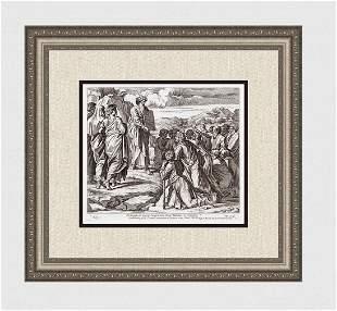 Raphael 1649 Engraving Vatican Moses presents the