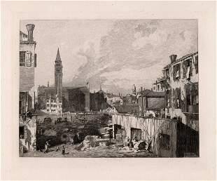 1876 Canaletto View in Venice (The Stonemason's Yard)