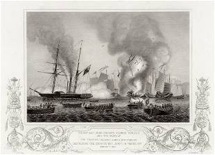 G. W. Terry 1855 engraving The battle of Ansons Bay