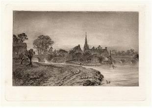 Alfred Dawson Dorchester 1884 etching